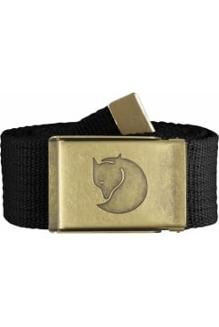 Canvas Brass Belt 4cm (Black)