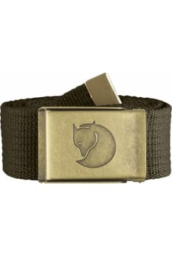 Canvas Brass Belt 4cm (Dark Olive)