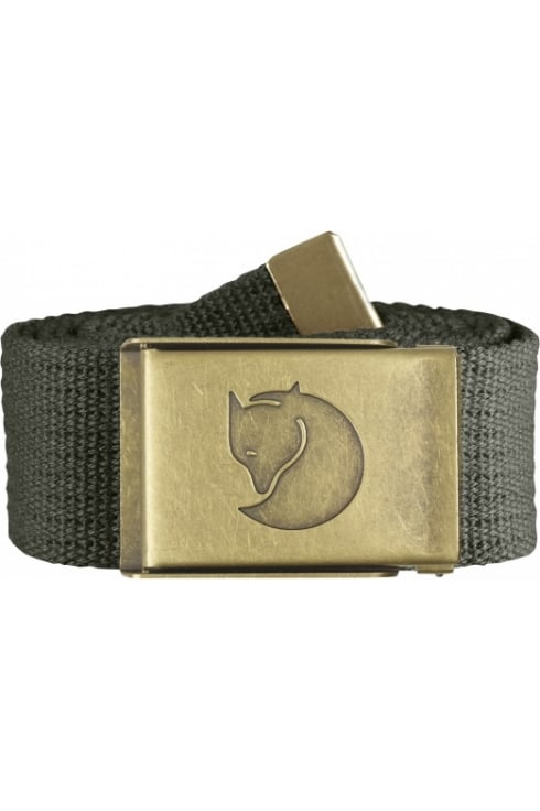 Fjällräven Canvas Brass Belt 4cm (Mountain Grey)