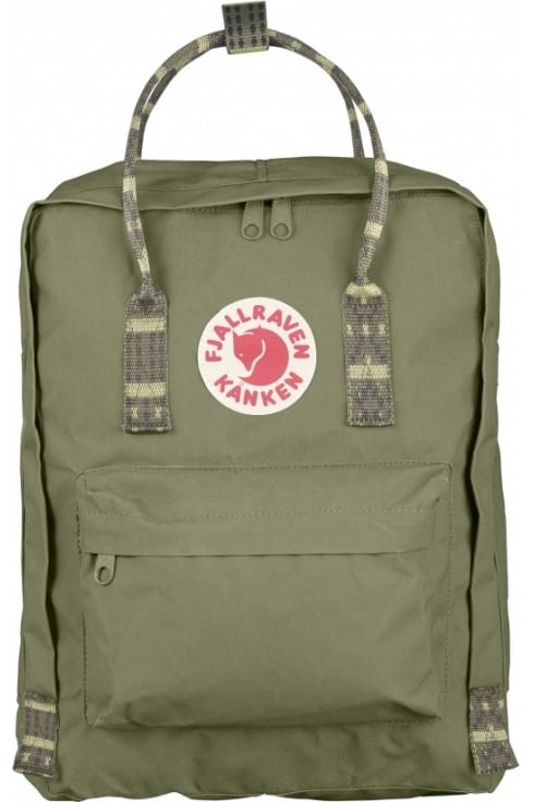 Fjällräven Kånken Backpack (Green/Folk Pattern)