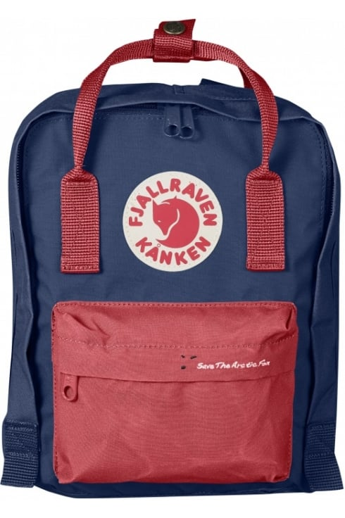Fjällräven 'Save the Arctic Fox' Kånken Mini Backpack (Royal Blue/Peached Red)