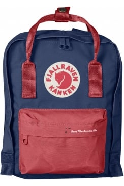 'Save the Arctic Fox' Kånken Mini Backpack (Royal Blue/Peached Red)
