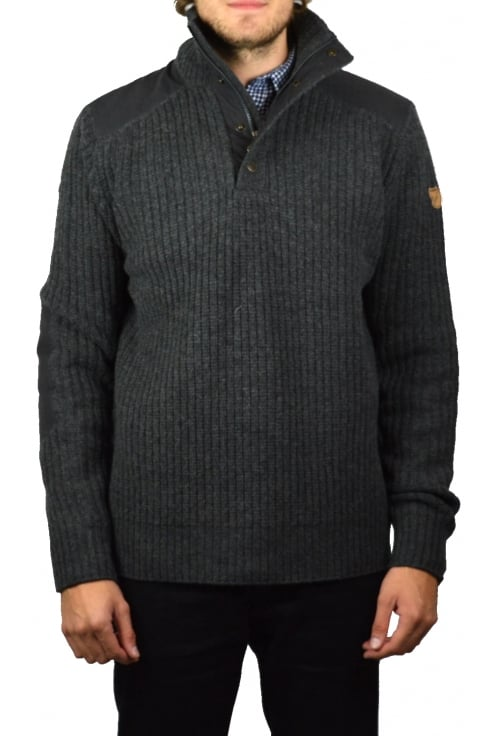 Fjällräven Varmland Wool Knit Sweater (Dark Grey)