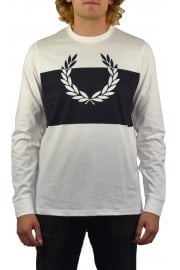 Blocked Laurel Wreath Long-Sleeved T-Shirt (Snow White)