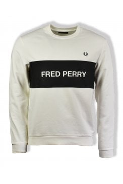 d86837453874 Chest Panel Sweatshirt (Snow White) · Fred Perry ...