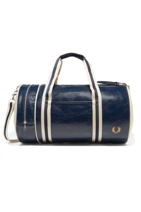 Fred Perry Classic Barrel Bag (Navy/Ecru)