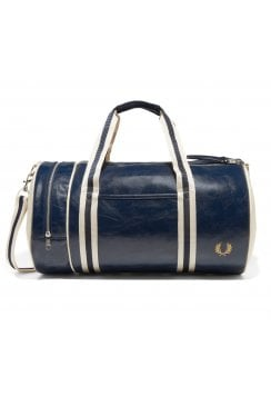 Classic Barrel Bag (Navy/Ecru)
