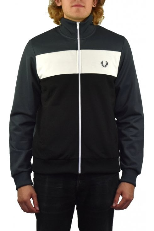 Fred Perry Colour Block Track Jacket (Charcoal)