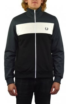 Colour Block Track Jacket (Charcoal)