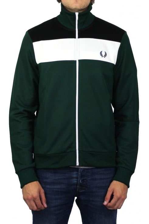 Fred Perry Colour Block Track Jacket (Ivy)