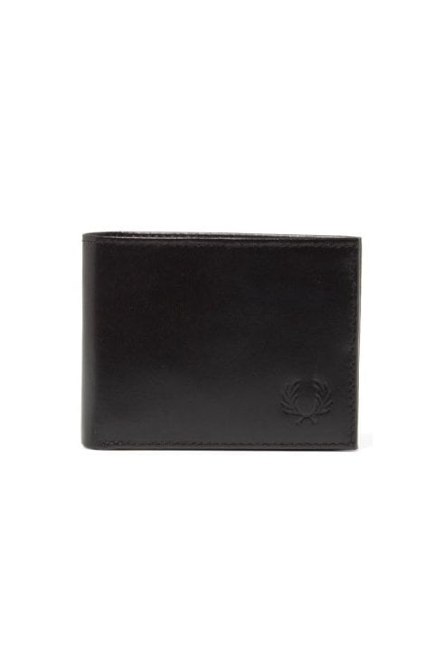 Fred Perry Contrast Leather Bi-Fold Wallet (Black)