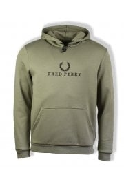 Embroidered Hooded Sweatshirt (Washing Khaki)