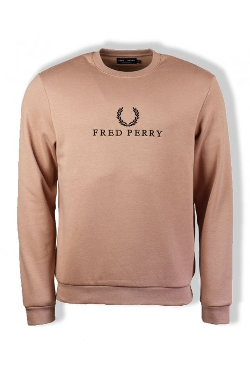 Fred Perry Embroidered Sweatshirt (Grey Pink)