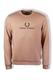 Embroidered Sweatshirt (Grey Pink)