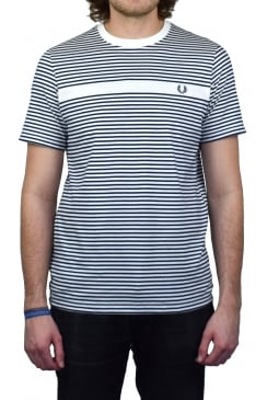 Fine Stripe T-Shirt (Snow White)