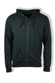 Full-Zip Hooded Sweatshirt (Dark Emerald)