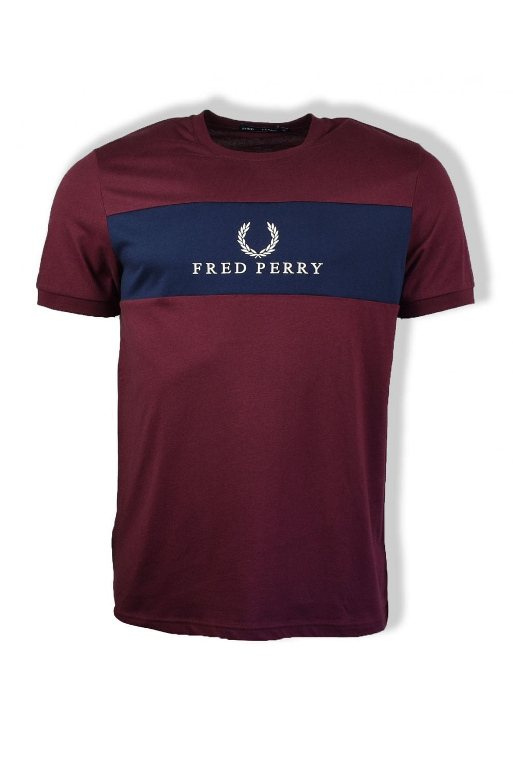 22c32fa84 Fred Perry Panel Embroidered T-Shirt (Mahogany)