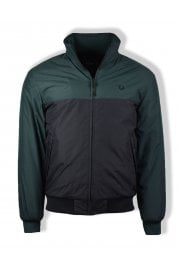 Panelled Quilted Brentham Jacket (Dark Emerald)