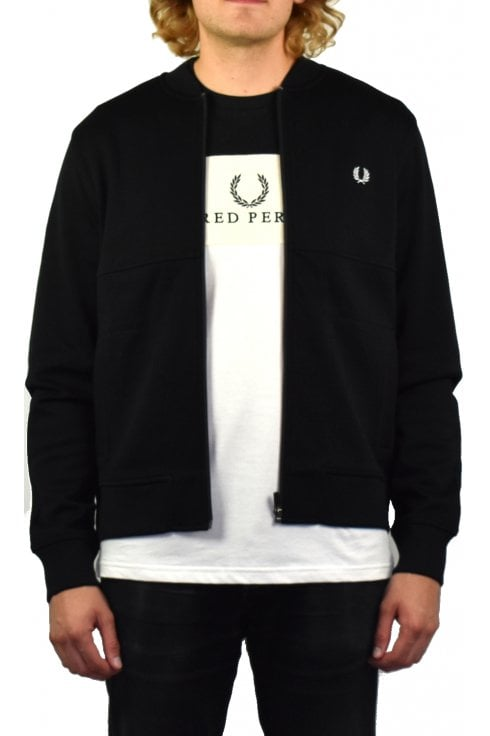 Fred Perry Pique Bomber Sweat (Black)
