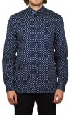 Fred Perry Polka Dot Long-Sleeved Shirt (Medieval Blue)