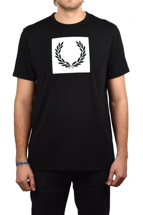 Fred Perry Printed Laurel Wreath T-Shirt (Black)