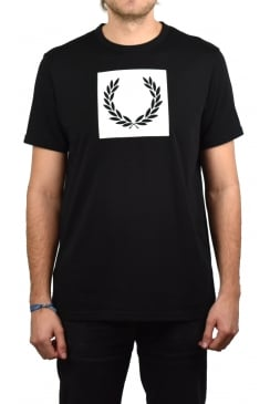 Printed Laurel Wreath T-Shirt (Black)