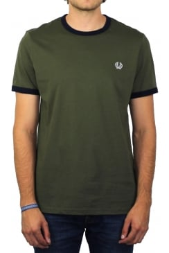 Ringer Short-Sleeved T-Shirt (Iris Leaf)