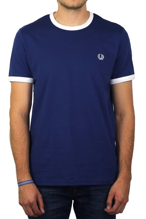 Fred Perry Ringer Short-Sleeved T-Shirt (Pacific)