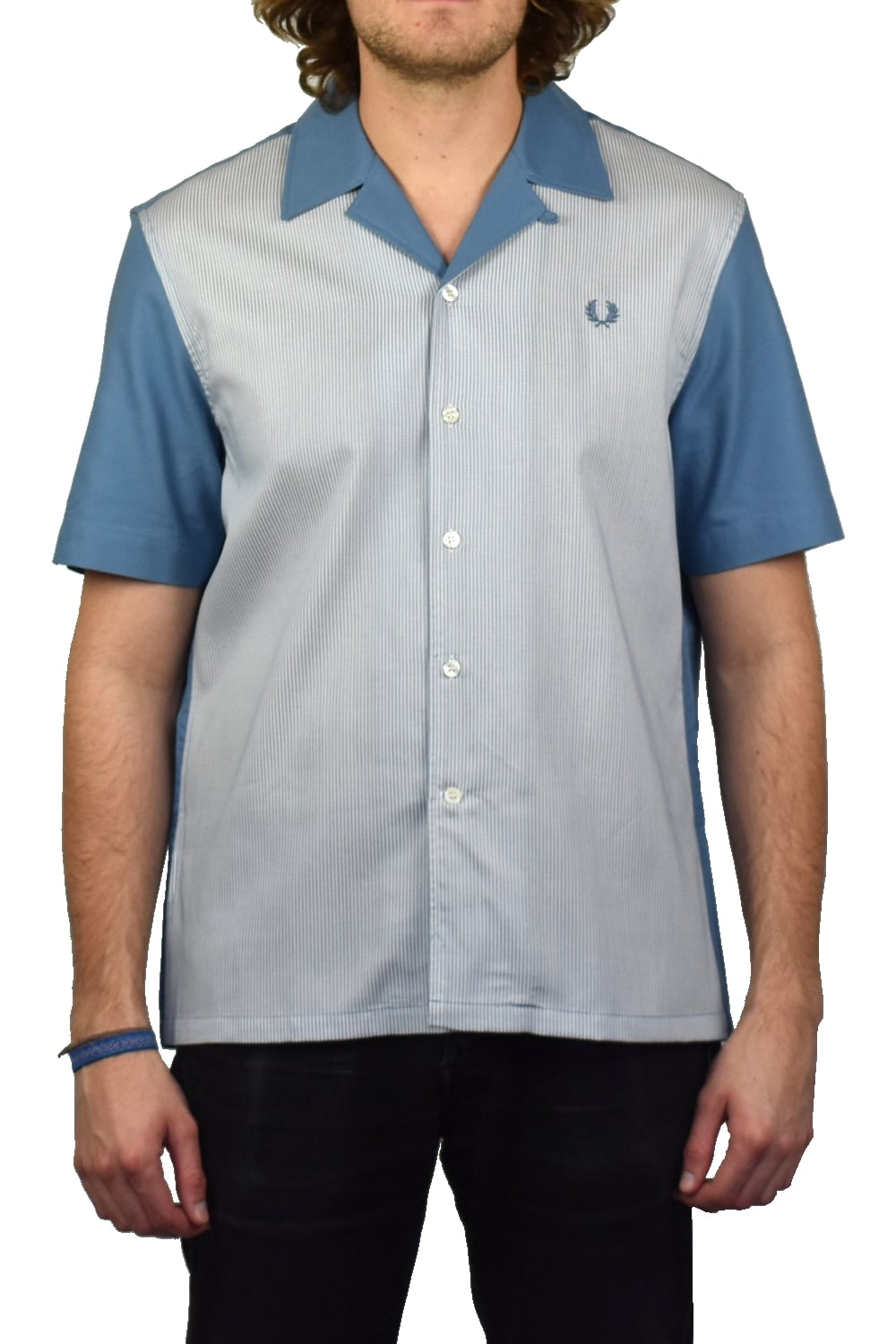 02a8fc7c3 Fred Perry Stripe Collar Pique Polo Shirt (Washed Dusk)