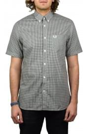 Three Colour Short-Sleeved Gingham Shirt (Nettle)