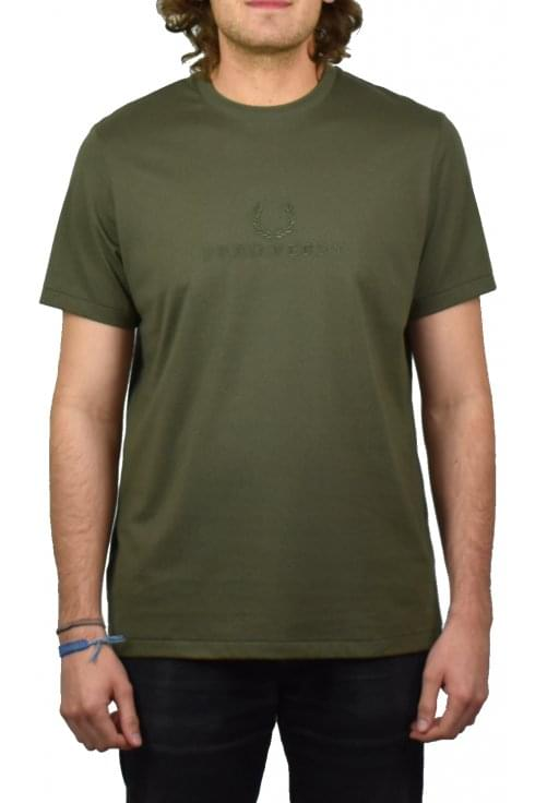 Fred Perry Tonal Embroidered T-Shirt (Iris Leaf)