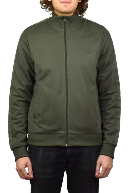 Fred Perry Tonal Taped Track Jacket (Iris Leaf)