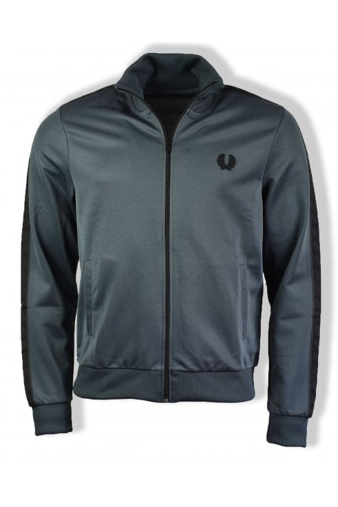 Fred Perry Tonal Taped Track Jacket (Lead Grey)