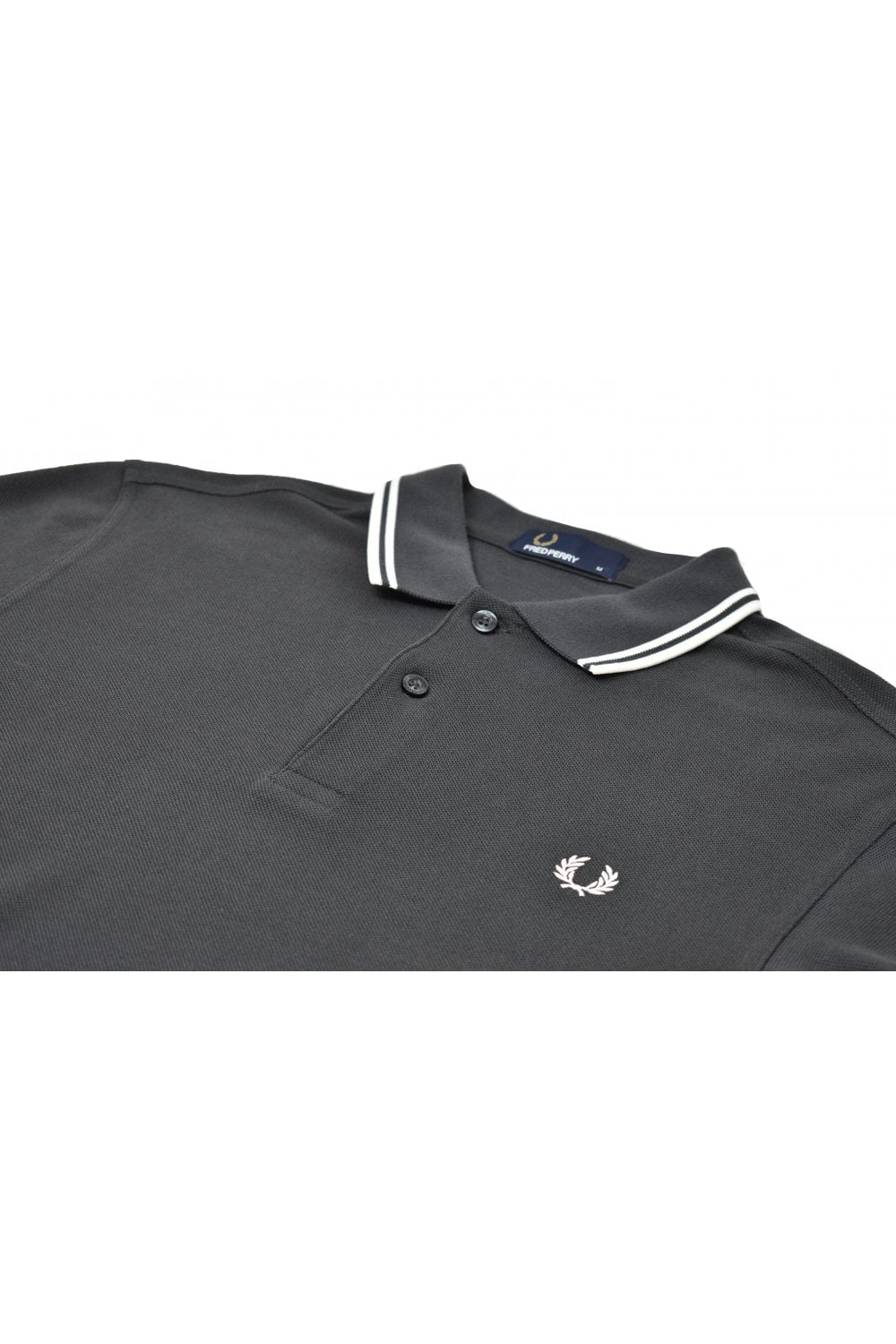 5b6258bd1 Fred Perry Twin Tipped Polo Shirt (Anthracite)