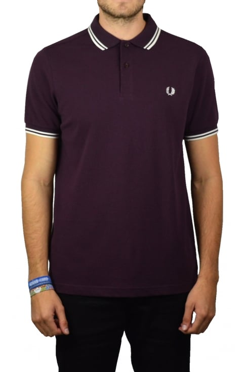 Fred Perry Twin Tipped Polo Shirt (Bramble)