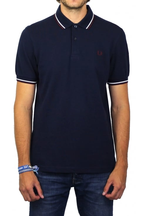 Fred Perry Twin Tipped Polo Shirt (Carbon Blue)