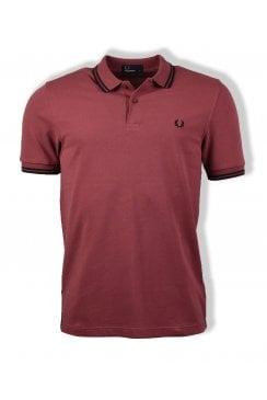 Twin Tipped Polo Shirt (Crushed Berry/Black)