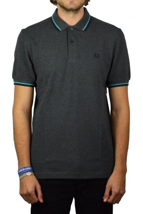 Fred Perry Twin Tipped Polo Shirt (Graphite Marl)