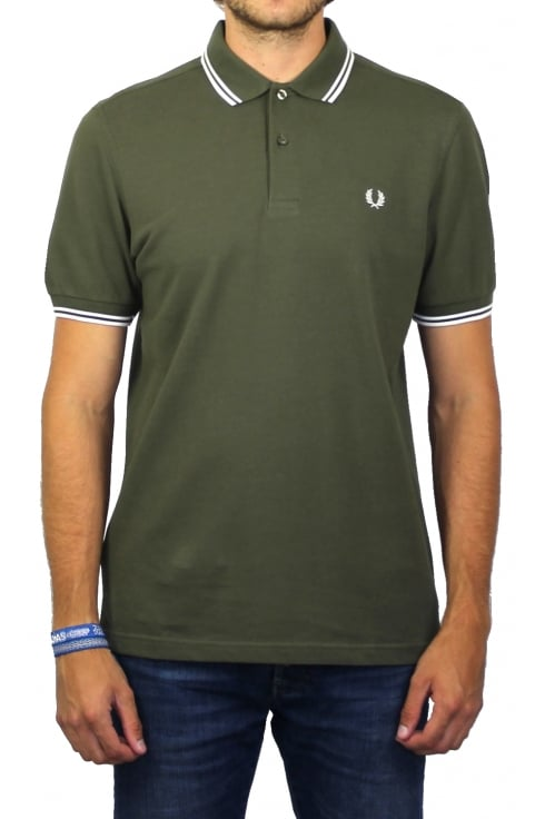 Fred Perry Twin Tipped Polo Shirt (Iris Leaf)