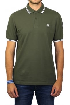Twin Tipped Polo Shirt (Iris Leaf)