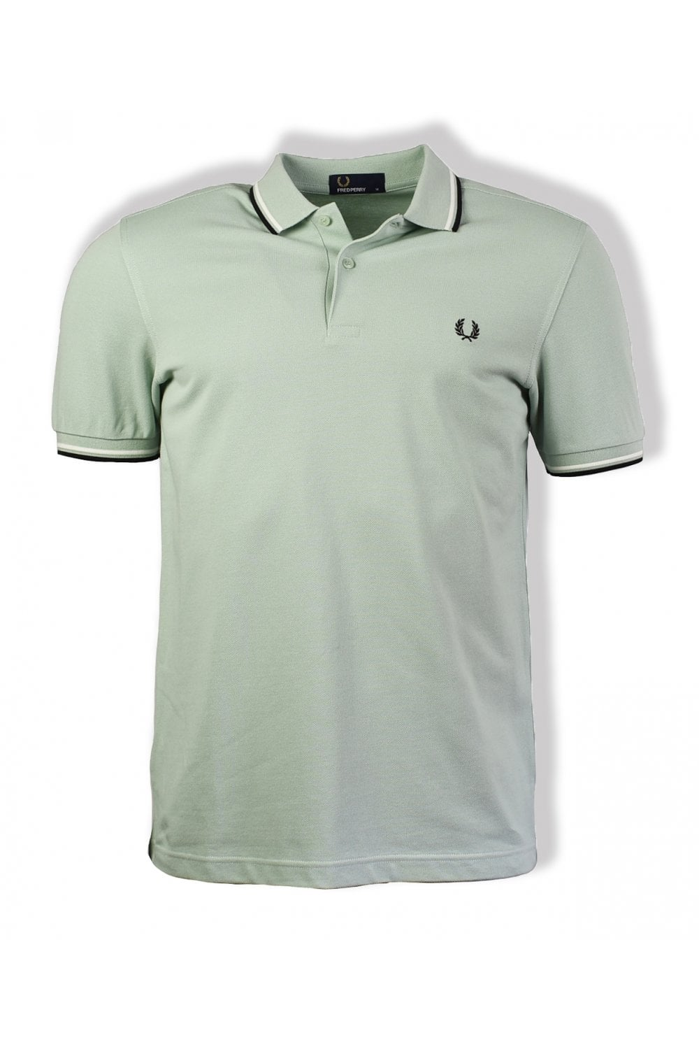36c9ec1836c3 Fred Perry Twin Tipped Polo Shirt (Mint/Snow White/Black) | ThirtySix