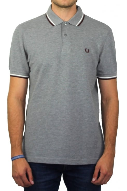Fred Perry Twin Tipped Polo Shirt (Steel Marl)