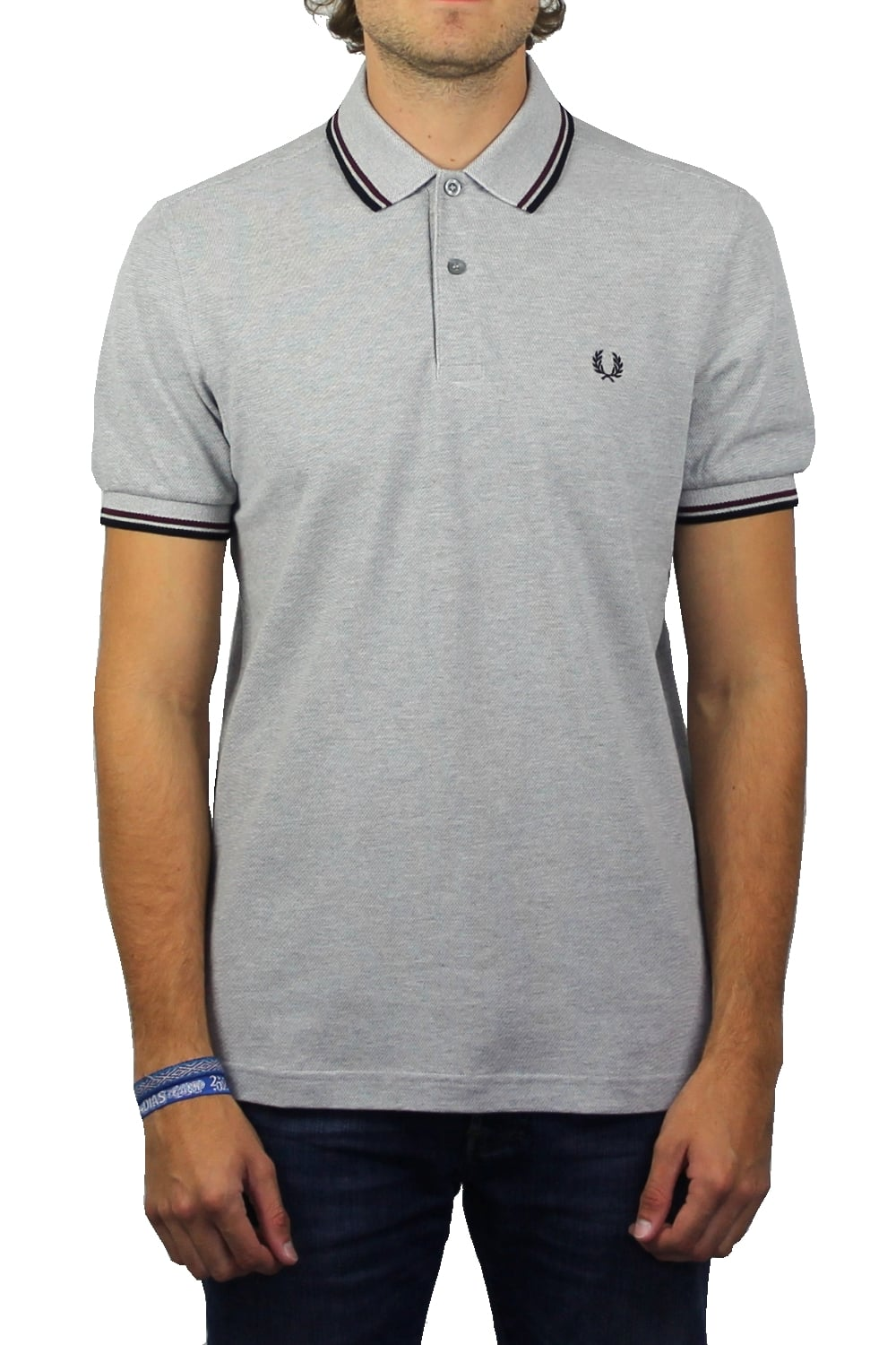 b38822d3 Fred Perry Twin Tipped Polo Shirt (Steel Marl) | ThirtySix