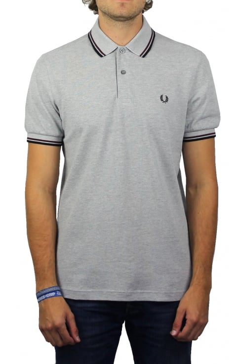 Fred Perry Twin Tipped Polo Shirt (Steel Oxford)