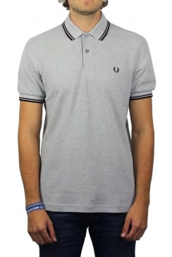 Twin Tipped Polo Shirt (Steel Oxford)