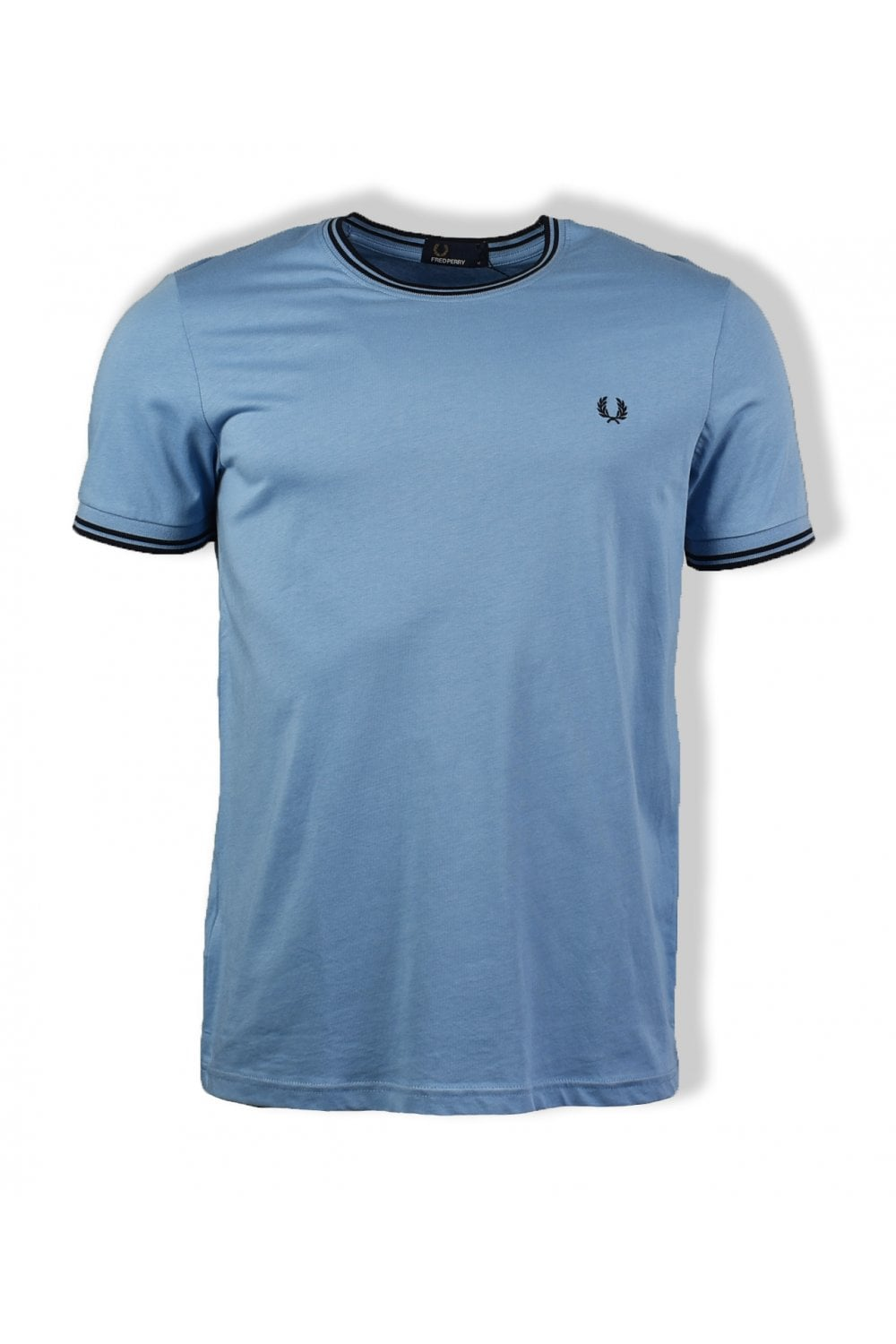 f4b26d7331d3 Fred Perry Twin Tipped T-Shirt (Sky) | ThirtySix