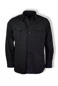 Utility Overshirt (Black)