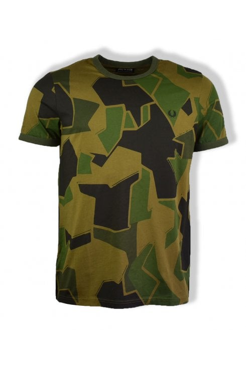 Fred Perry x Arktis Short-Sleeved T-Shirt (Woodland Camo)