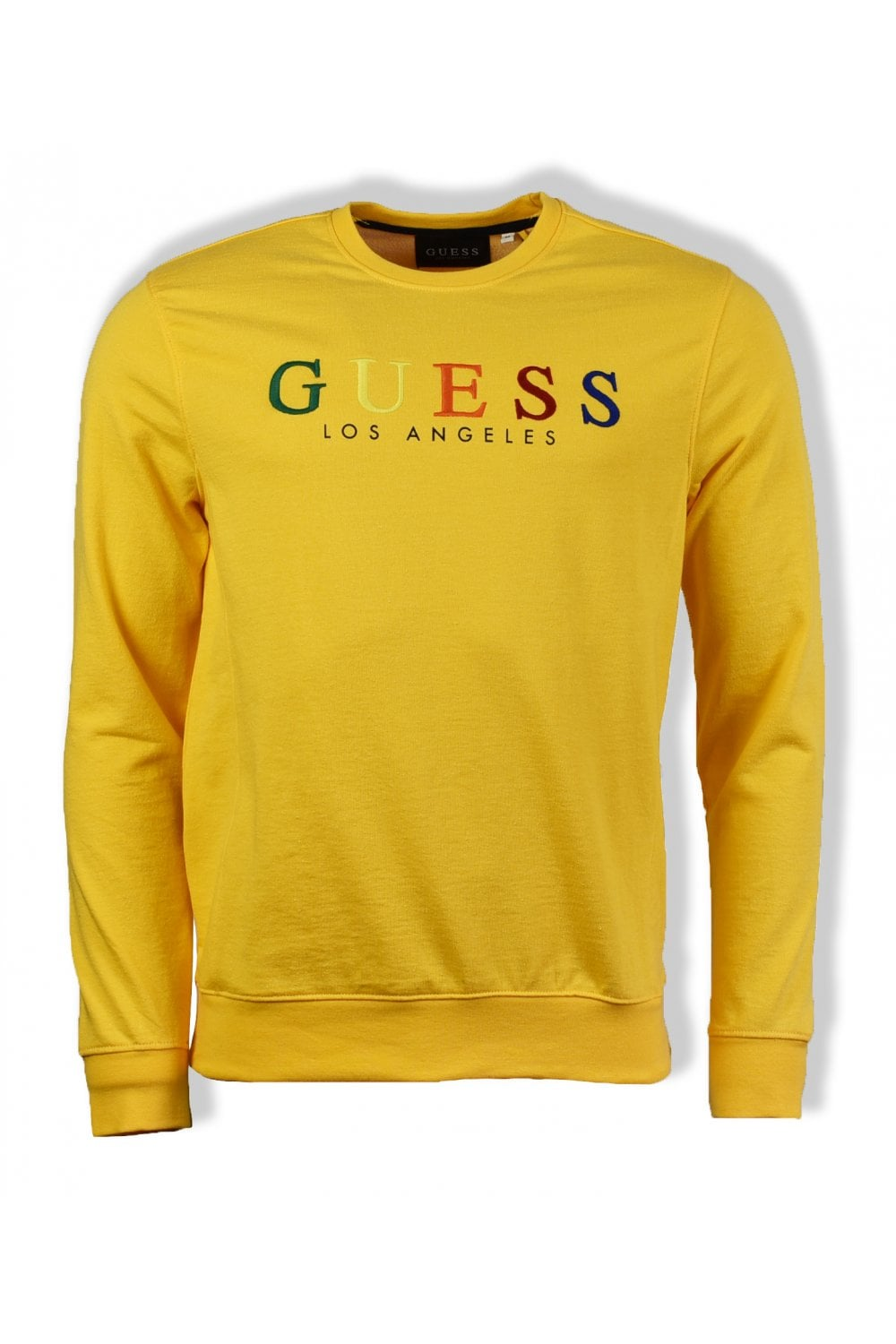 c6b37ed9c Guess Jed Crew-Neck Sweatshirt (Yellow) | ThirtySix