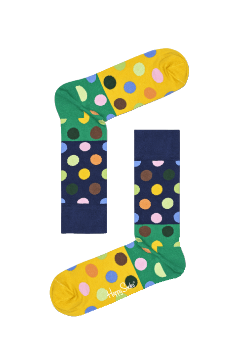 Happy Socks Big Dot Block Socks